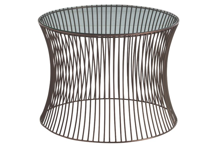Nova Iron/Glass Side Table