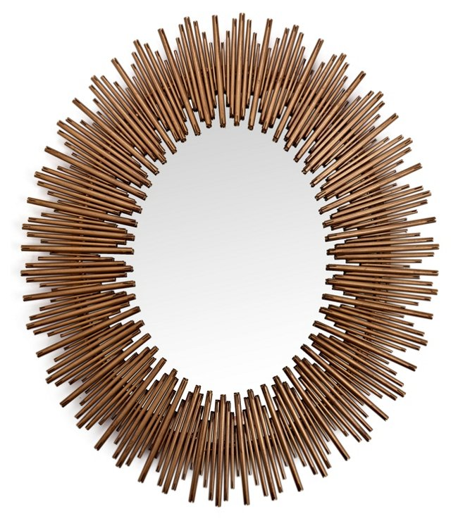 Calvin Wall Mirror, Gold