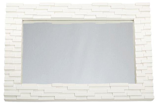 Mosaic Mirror, White