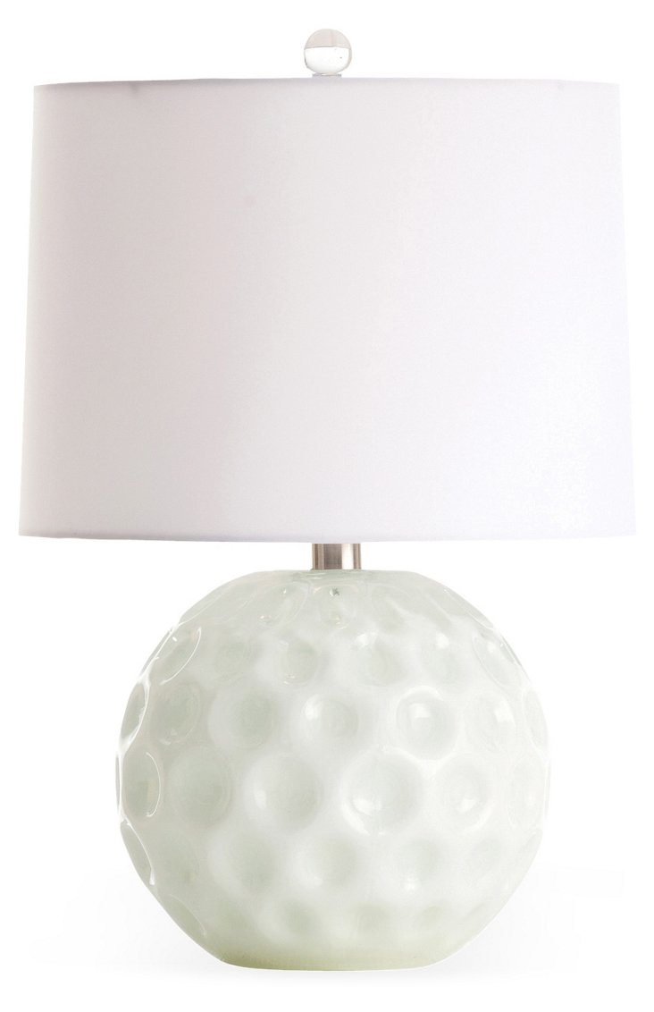 Verona Opal Cased Glass Accent Lamp