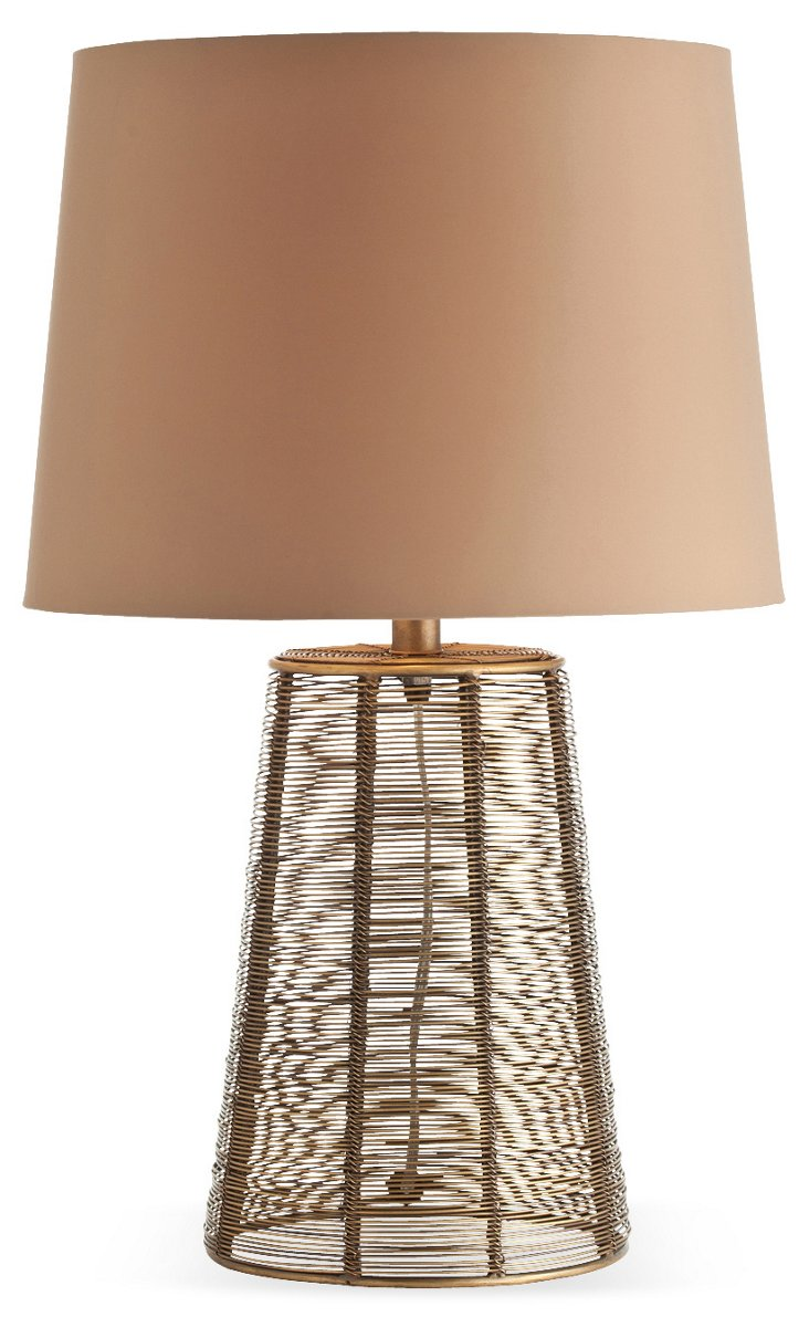 Wilbur Iron Wire Tapered Lamp