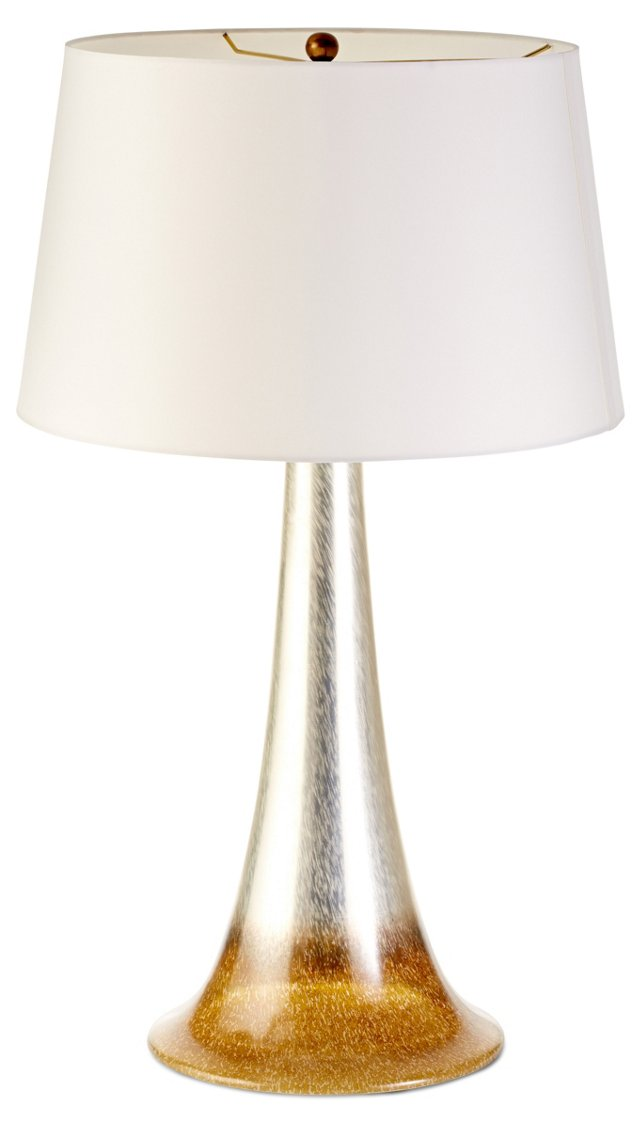 Salinas Cone Table Lamp, Silver/Gold