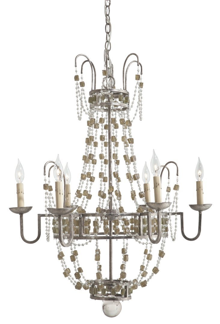 Versailles 6-Light Chandelier, Pewter