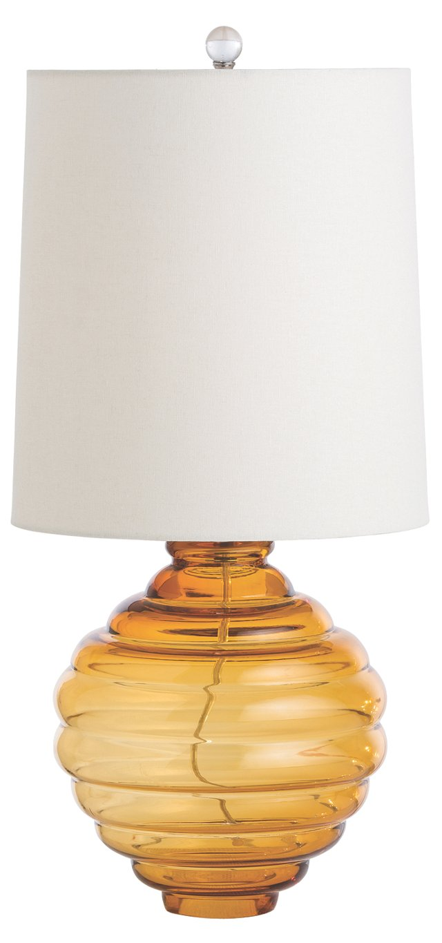 Eliza Accent Lamp, Amber Glass