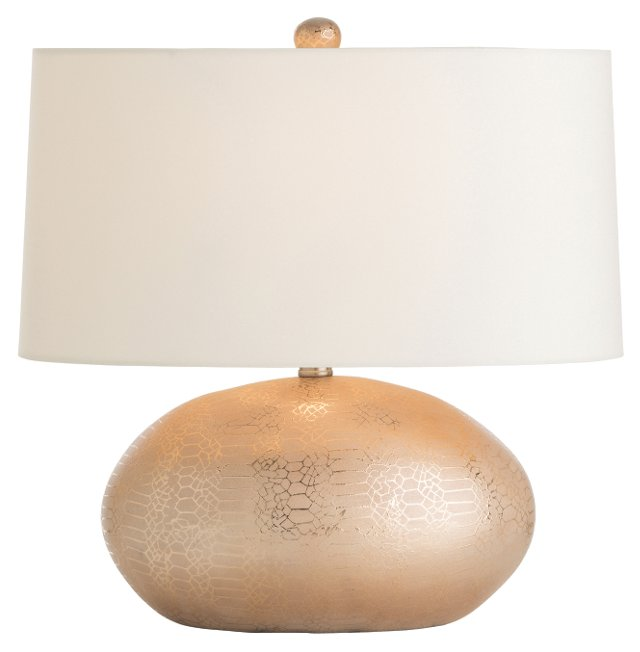 Winslow Table Lamp, Metallic Python