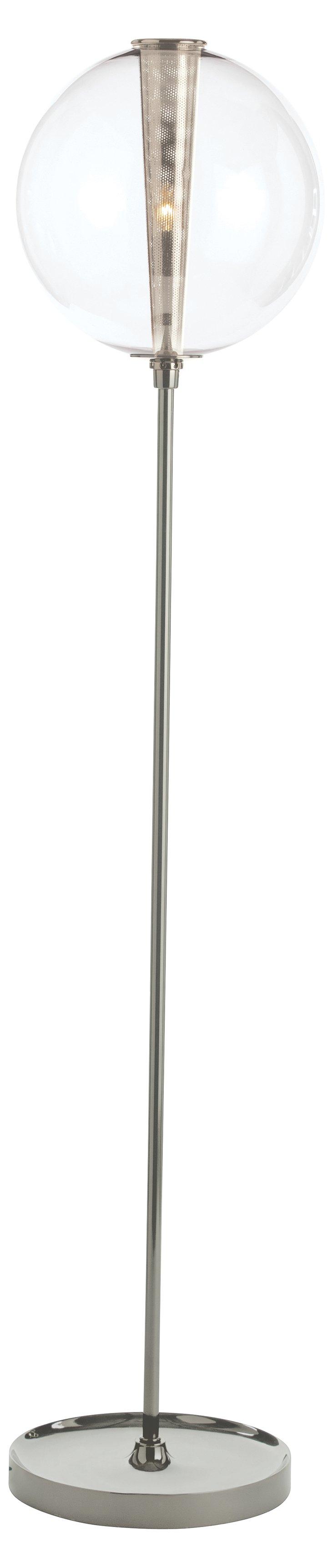 Caviar Floor Lamp, Polished Nickel