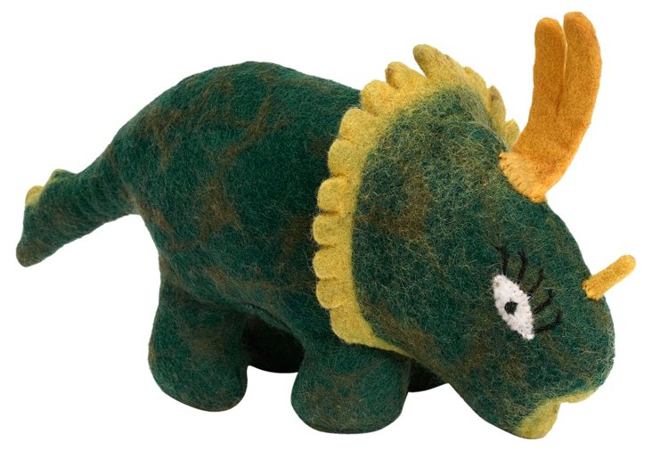 Spiked Felt Dinosaur, Green