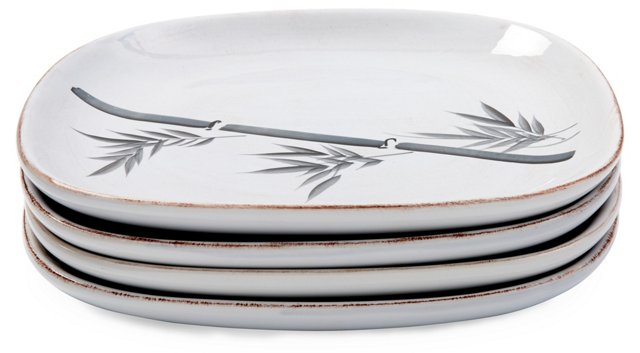 S/4 Bamboo Plates