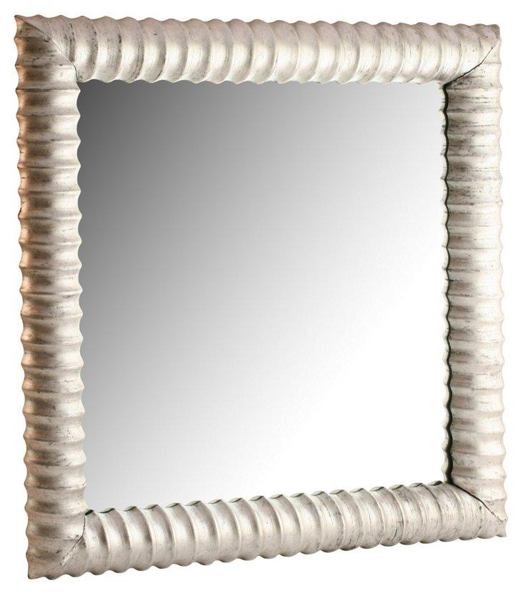 Large Square Silver Mirror