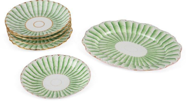 Asparagus Green China, Set of 7