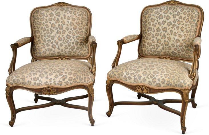 Marjorie Post Chairs, Pair