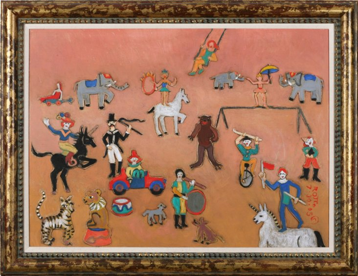 Rosemary Otto Oil Painting, Circus