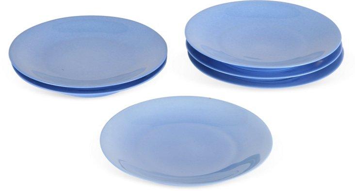 Blue Limoges Plates, Set of 6