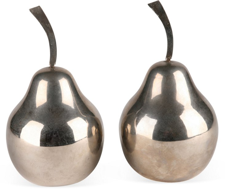 Silverplate Italian Pears, Pair
