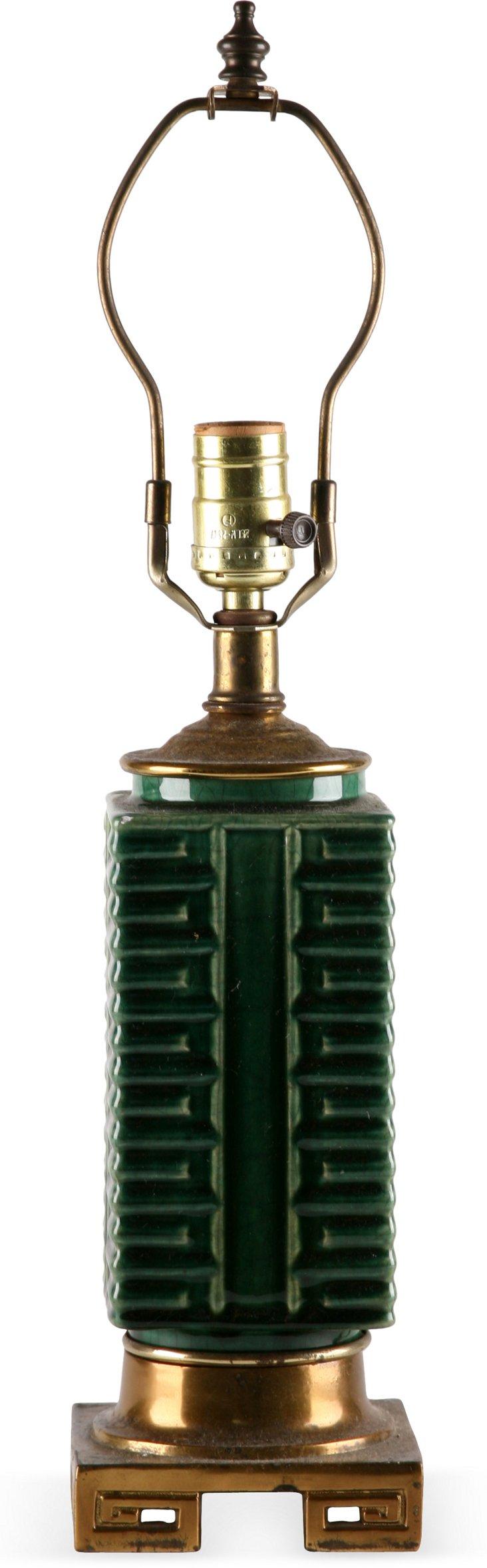 Chinese Green Ceramic Lamp