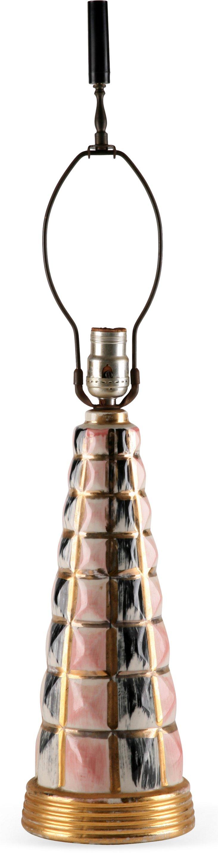 Black & Pink Art Deco Lamp