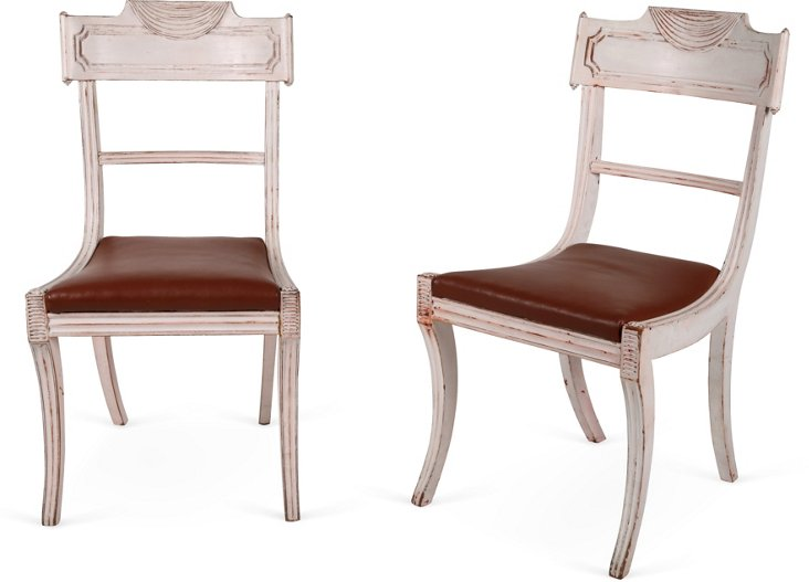 English Regency-Style Chairs, Pair