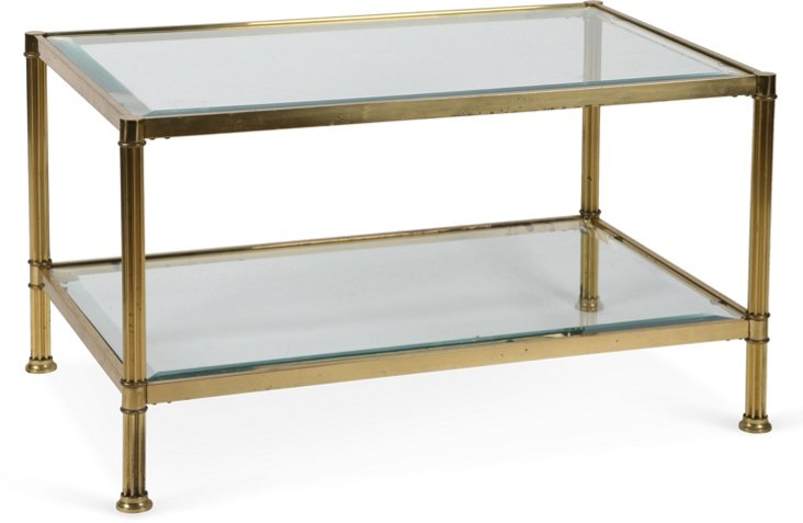 Brass Neoclassical-Style Table