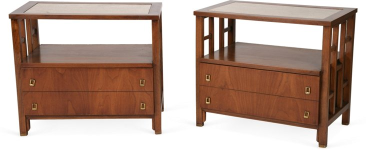 Midcentury End Tables, Pair