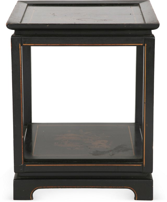 Vintage Chinese Black Wood Table