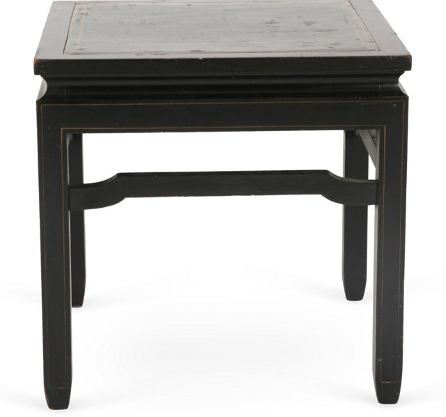 Leather Top End Table II