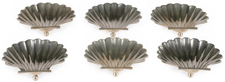 Cartier Silver Shell Trays, Set of 6