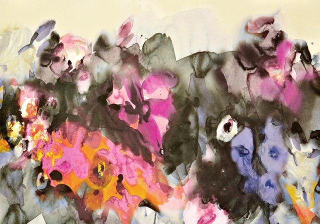 Lela Rose Watercolor Gift Wrap, 5 Sheets