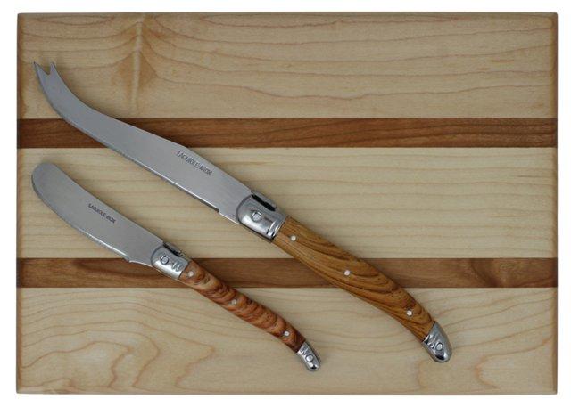 5-Pc Cheese Knife Set w/ Board