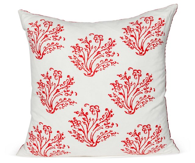 John Robshaw Coral Pillow
