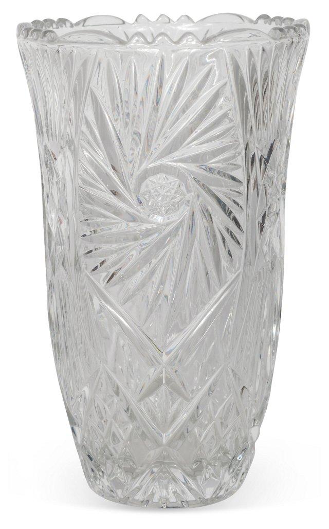 Cut-Glass Vase