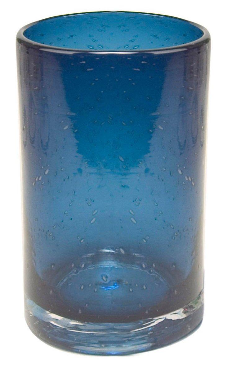 S/6 Iris Highball Glasses, Slate Blue