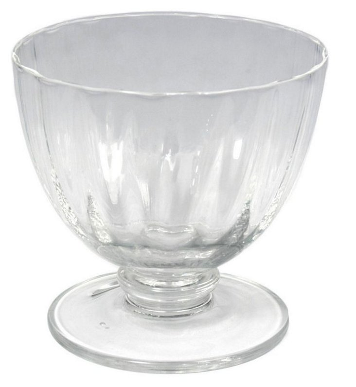 S/4 Aldrich Dessert Coupes, Clear