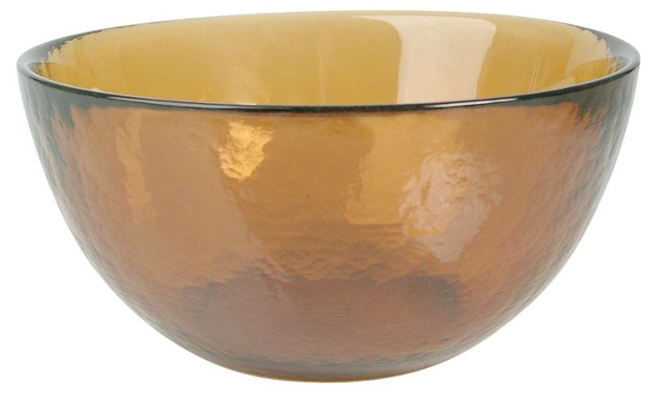 S/4 Colby Cereal Bowls, Amber