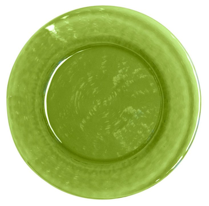 S/4 Colby Dinner Plates, Green