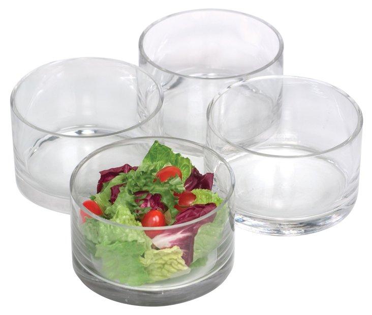 S/4 Small Simplicity Salad Bowls