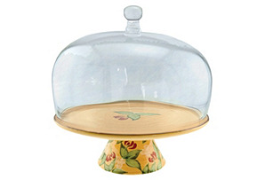 """13"""" Cake Stand with Glass Dome"""