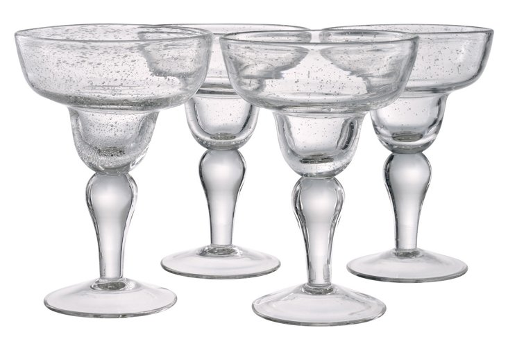 S/4 Iris Margarita Glasses