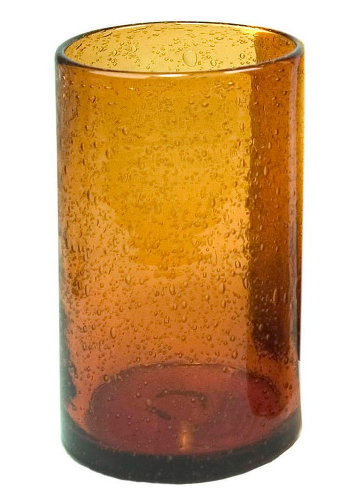 S/4 Bubble Highball Glasses, Amber