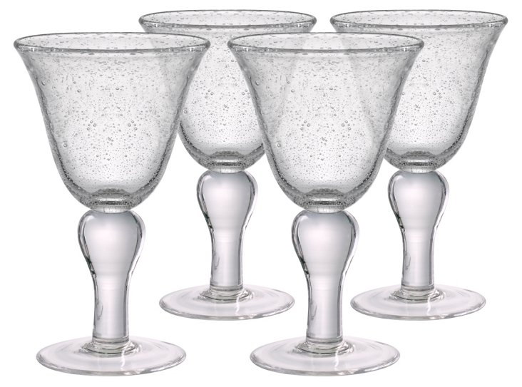 S/4 Iris Goblets, Clear