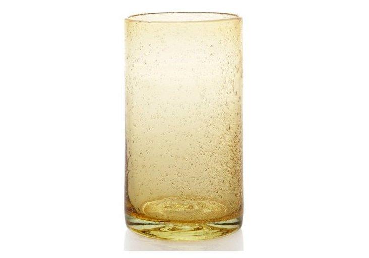 S/4 Iris Highball Glasses, Citrine
