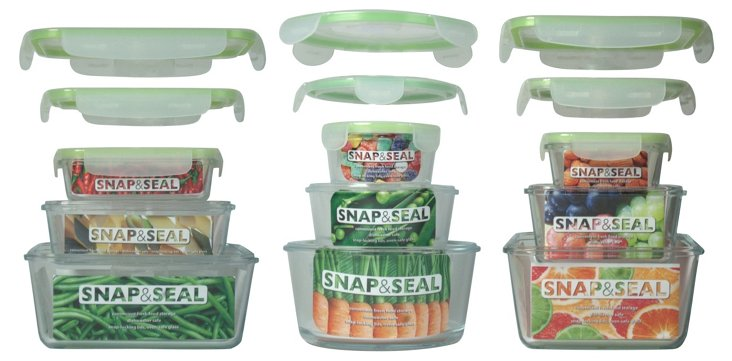 9-Pc Snap & Seal Container Set w/ Lids