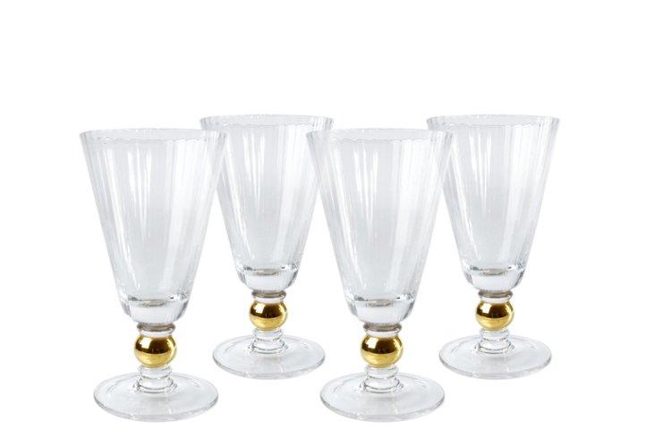 S/4 Jewel All-Purpose Glasses, Gold