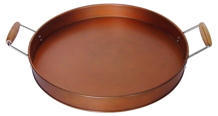 Oasis Party Tray, Antiqued Copper