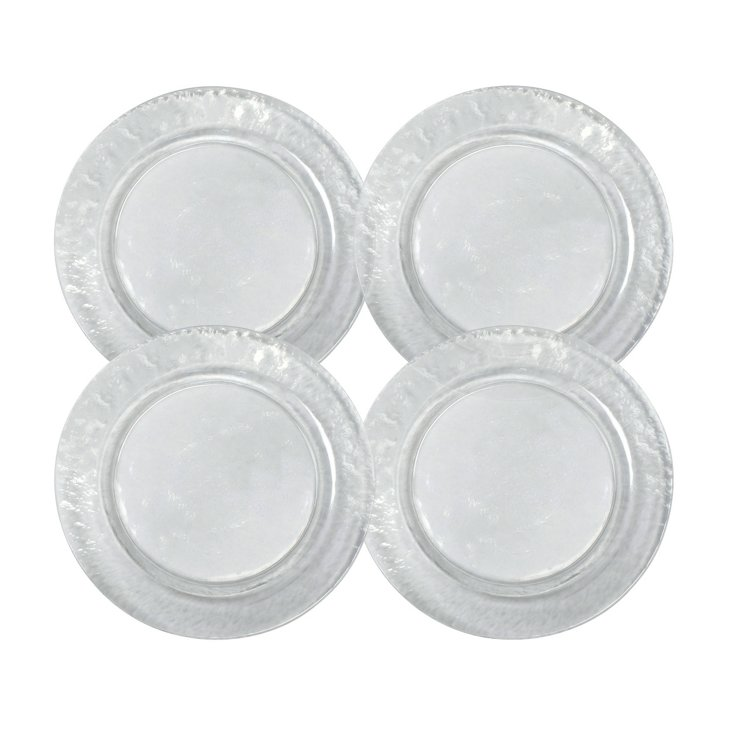 S/4 Colby Dinner Plates, Clear
