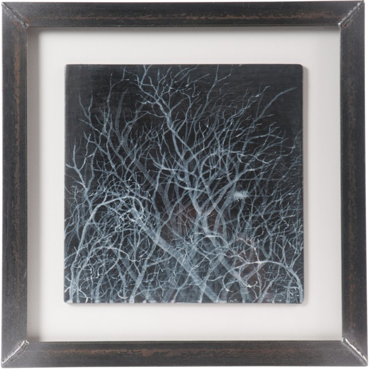Thicket, Pigment On Graphite Panel