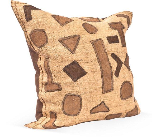 Geometric Kuba Cloth Pillow