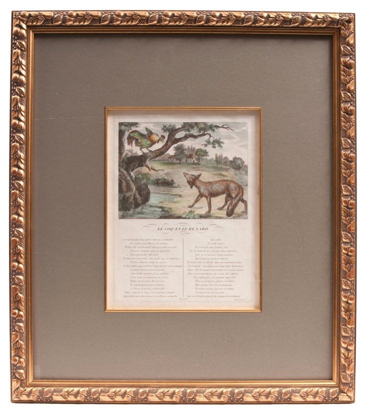 Antique Framed French Fables II