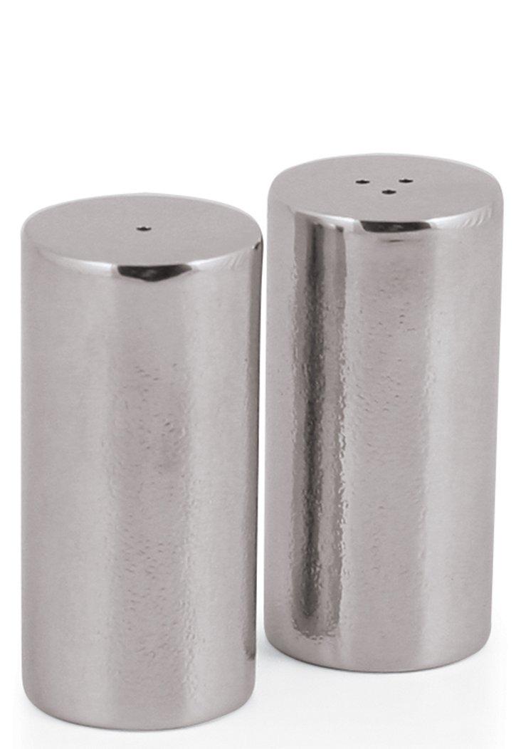 Placid Salt & Pepper Shakers, Silver