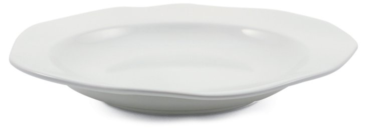 Stoneware Canapé Plate, White
