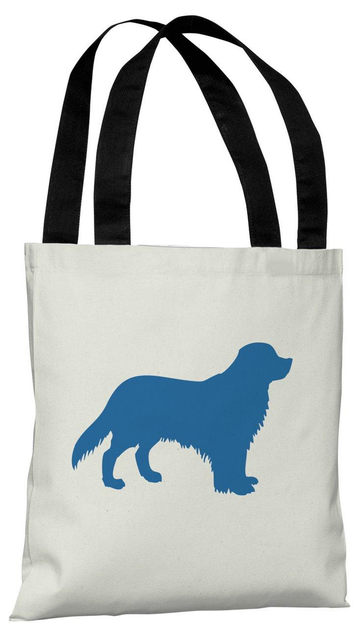 Golden Retriever Silhouette  Bag, Blue